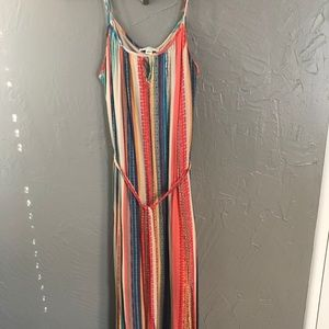 Key Hole Multi-Colored Maxi Dress by Forever 21+